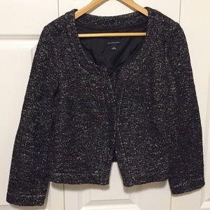 Banana Republic Tweed Blazer Jacket Black & White